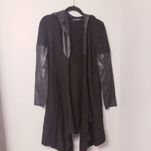 Blank NYC  open waterfall black cardigan